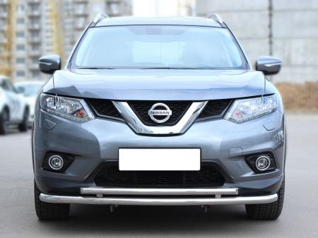 Nissan X-trail  2015-наст.вр.-Дуга передняя по низу бампера d-53+43 с подгибами